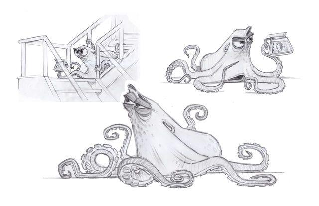 Finding Dory Hank Concept Art 2.
