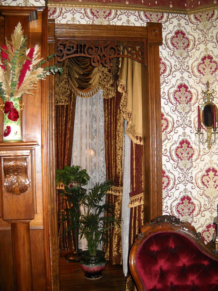 47 best old house curtains images on pinterest window for Victorian era windows