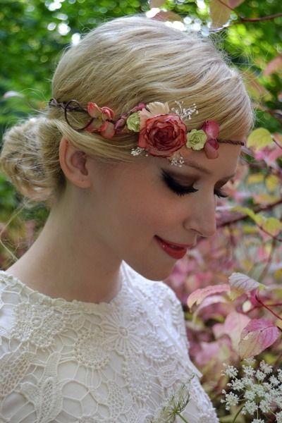 AUTUMN ROSE - Elfenkrone Hochzeit Blumenkranz von Miss Cherry Blossom auf DaWanda.com