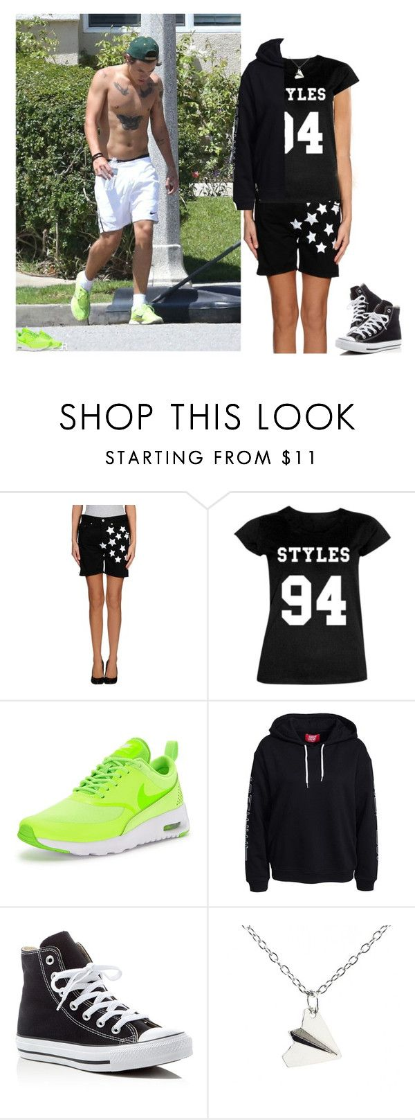 Going run with Harry by screaming-soul on Polyvore featuring Up ★ Jeans, NIKE and Converse