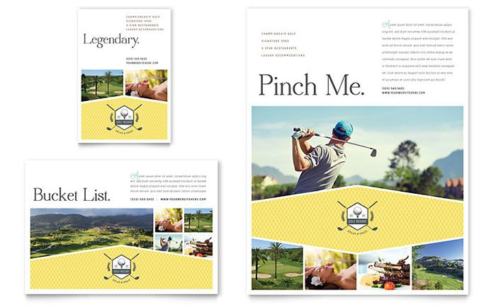Golf Resort Flyer and Ad Design Template by StockLayouts