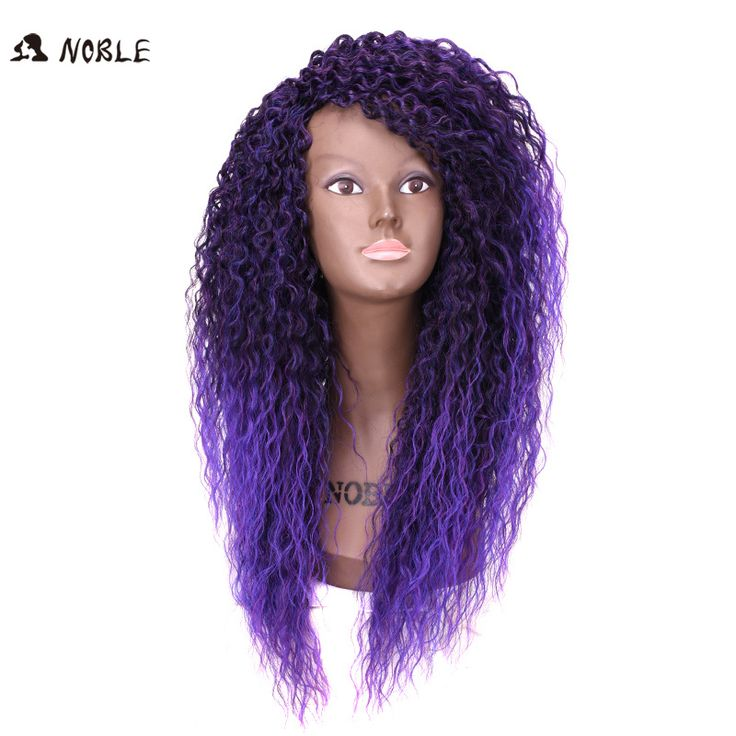 Noble-Cheap-Afro-Kinky-Curly-Synthetic-Wigs-African-American-Wigs-Long-Ombre-Purple-Wig-for-Black/32683288225.html * Click image for more details.