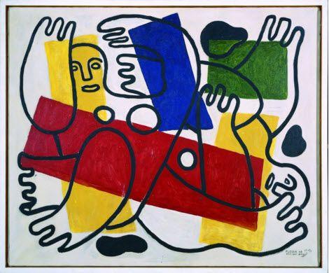 Fernand Léger | 1881-1955, France, cubism | the divers, 1943 | museum Ludwig
