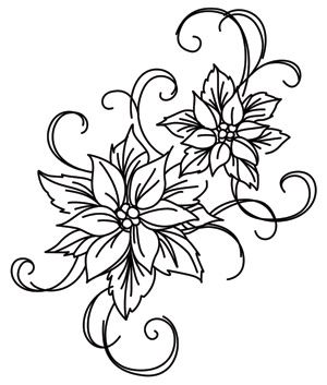 Deck the halls in glamorous style with this poinsettia embroidery design! Downloads as a PDF. Use pattern transfer paper to trace design for hand-stitching.