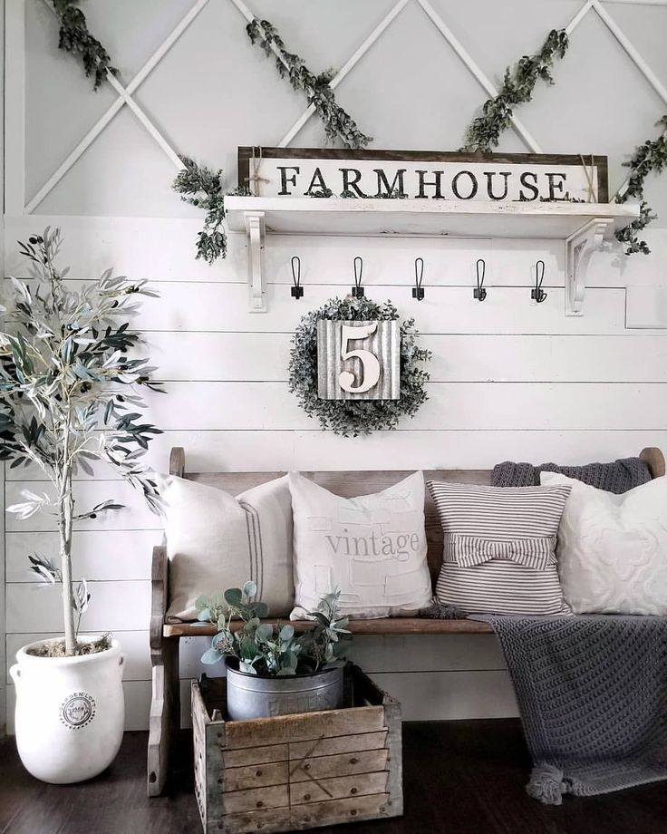 Large Farmhouse Wall Decor To Fit Spaces Big And Also Small Continue Reading Farmhousewalldecor Mod Farm House Living Room Home Decor Farmhouse Wall Decor