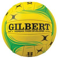 Increase your netball pass distance and accuracy training with the GILBERT PASS DEVELOPER NETBALL. http://www.bishopsport.co.uk/netball-balls/gilbert-pass-developer-netball.html