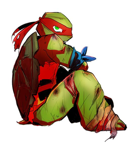 Damaged Raph.... TMNT 2012 I just can't.... ;_;