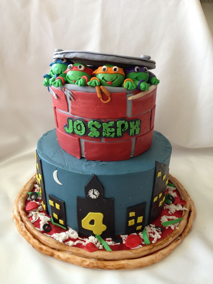 71 best Cakes TMNT Cakes images on Pinterest Tmnt cake Ninja