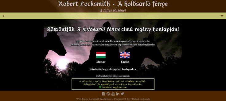A honlap belépési oldala, amellyel első ízben találkozik a látogató. A magyar nyelvű oldalra a magyar zászlóra való kattintással lehet bejutni.  A kép aktív Flash lejátszóval rendelkező Mozilla Firefox böngészőben, számítógépről készült. Bár a honlap viszonylag mobilbarát, elképzelhető, hogy telefonon lefelé kell görgetni ahhoz, hogy előtűnjenek a zászlók.   http://aholdsarlofenye.hu/