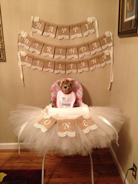 Primera silla cumpleaños del bebé de la por StacyLavelleDesigns