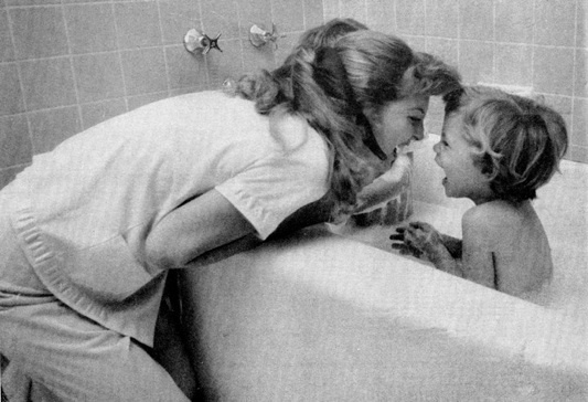 Julie London with one of her kids.