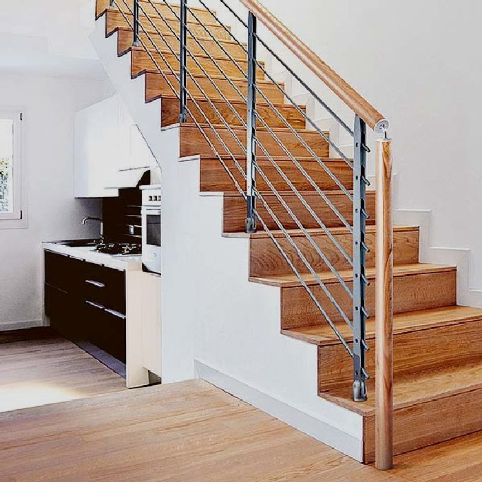 Under Stair Storage for Your Minimalist House   Wooden Stairs Modern Rail Under  Stair Storage Plan76 best 2 Spingle and Handrail Designs images on Pinterest  . Under Stairs Kitchen Design. Home Design Ideas