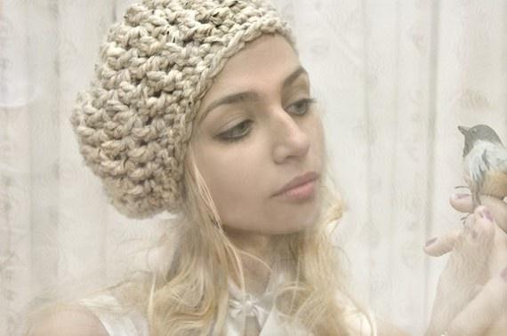 bonnie beret: Softspoken Projects, Wool Blend, Slouchy Berets, Cream White, Parker Berets, Oatmeal Cream, Favorite Crochet, Bonnie Berets, Bonnie Parker