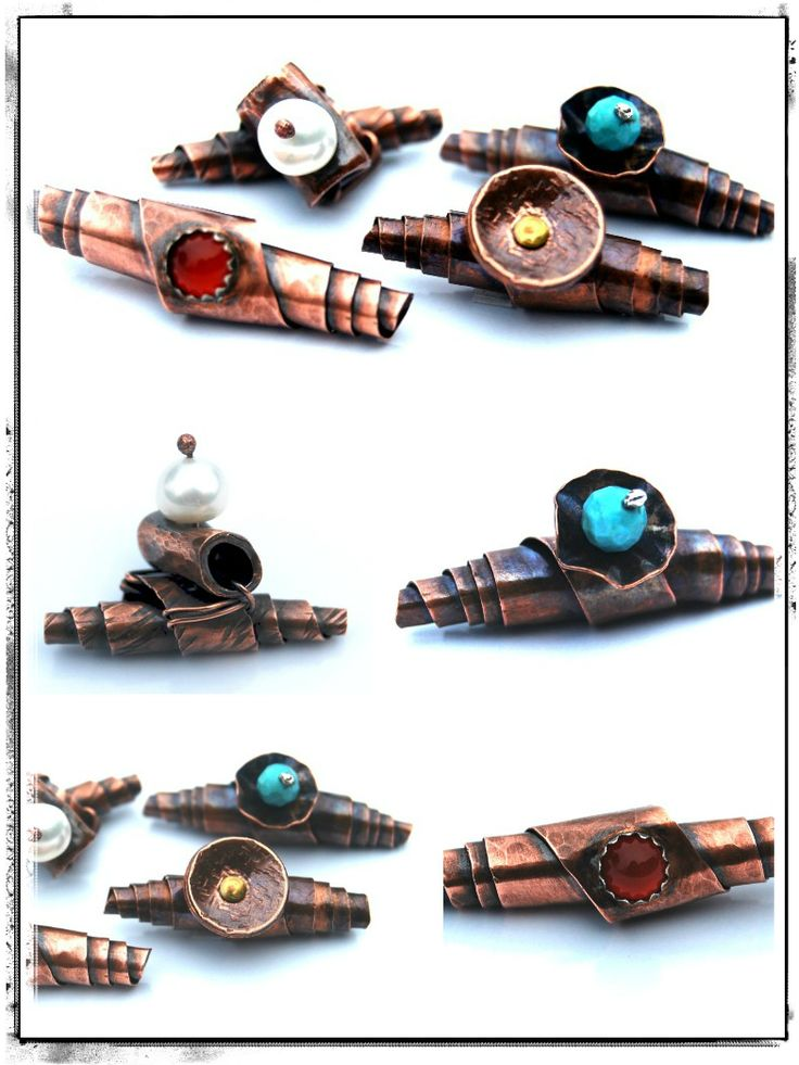 Heavy Metal Beads Collage 3-This would work with paper beads and metallic paint