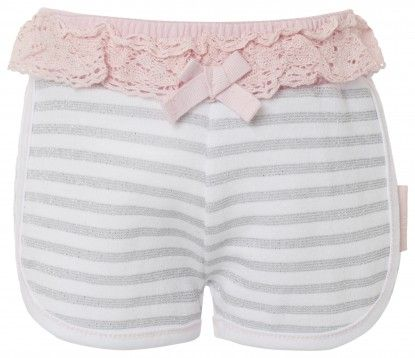 Pantaloni scurți pentru bebeluși NOPPIES - alb