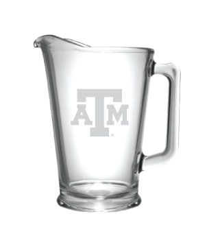 Texas A&M Pitcher - Glass Etched