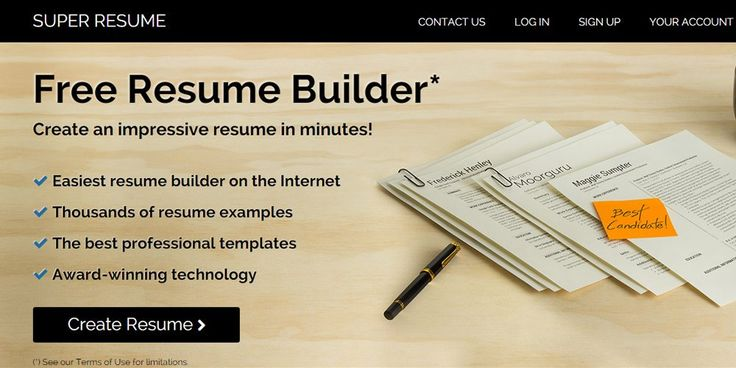 Super Resume Online Resume Builders Pinterest Online resume - free resume builder no sign up