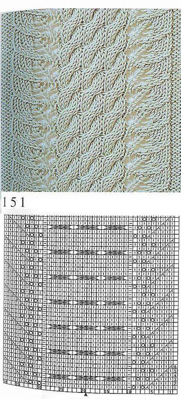 nice beautiful knitting stitch pattern lace aran - pattern 24