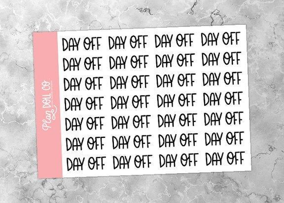 Printable Day Off Stickers Schedule Stickers Job Stickers
