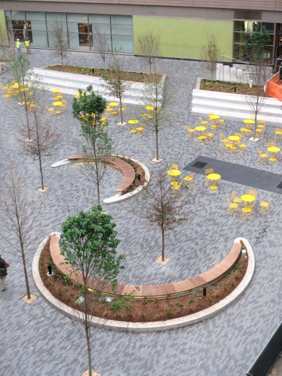 I like the shapes and seating, but obviously needs a lot of full planting :)