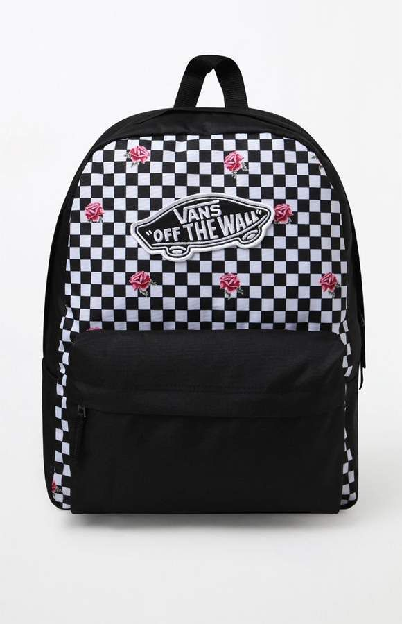 09c1d9f65f7 Black   White Realm Backpack  zip pocket front