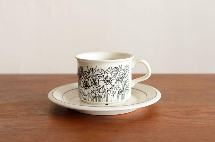 ARABIA アラビア Krokus クロッカス コーヒーカップ&ソーサー #1 / Esteri Tomula/ara1-1562/北欧雑貨&北欧食器 カフェ KUPPI