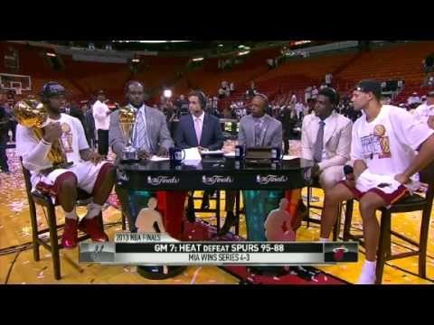 GameTime: LeBron James & Shane Battier   Spurs vs Heat   June 20, 2013   Game 7   NBA Finals 2013