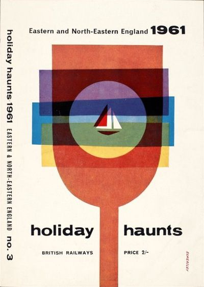 Holiday Haunts, Tom Eckersley, 1961. via vintage poster blog