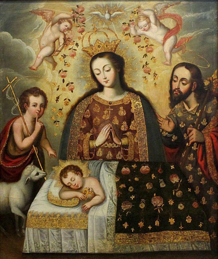 EL SUEÑO DEL NIÑO: Barroco Cusqueño Siglo XVIII, Óleo sobre lienzo, 142.5 cm x 120.8 cm. Foro Peruano de las Artes: PINTURA VIRREINAL PERUANA