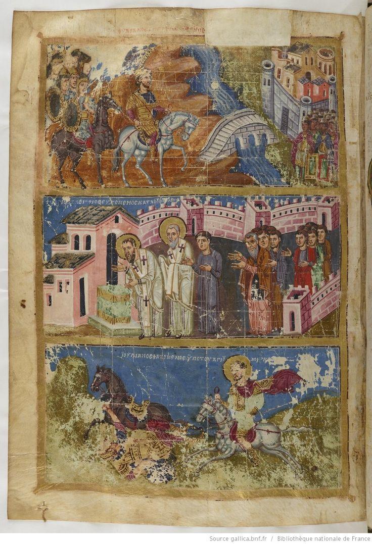 BnF, Grec 510, Grégoire de Nazianze, manuscrit dédié à l'empereur Basile Ier le Macédonien, folio 409v