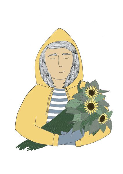 Girl with sunflowers. Art Print by WEUSEDTODANCE | Society6