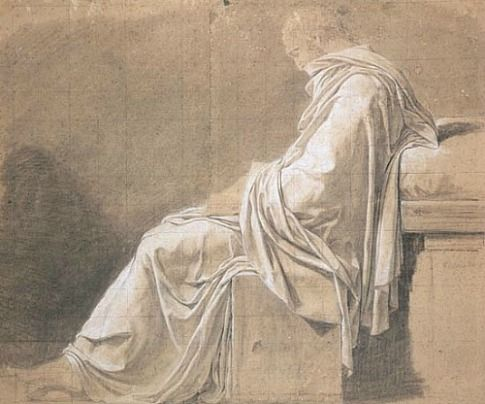 Jacques-Louis David, Study for the figure of Plato in the 'Death of Socrates' (1787)