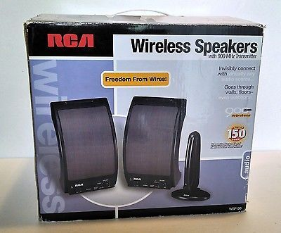 RCA Wireless Stereo Speakers Complete in Box 900 MHz WSP150 Nice 079000311768 | eBay