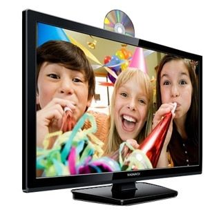 Refurbished 28-inch 720p Slim LED LCD Hdtv with Built-in DVD Player