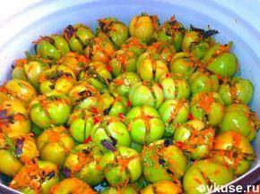 Вкуснейшие зелёные помидорчики - квашенные , быстрые