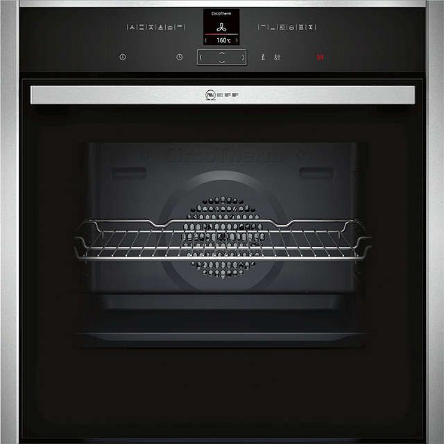 BuyNeff B27CR22N1B CircoTherm® Pyrolytic Single Electric Oven, Stainless Steel Online at johnlewis.com