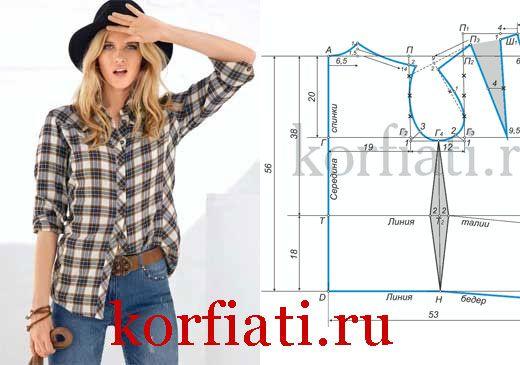 Эту стильную блузку в ковбойском стиле, как и многие другие, вы сможете сшить самостоятельно. ВАЖНО! Здесь дана выкройка женской блузки прямого силуэта...
