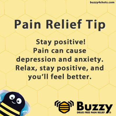 Pain Relief Tip: Stay positive! We know that being in pain can make you tired, depressed, anxious and grumpy. Trying to stay positive while in pain can help make you feel better.
