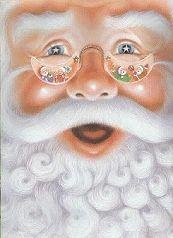 winking animated santa
