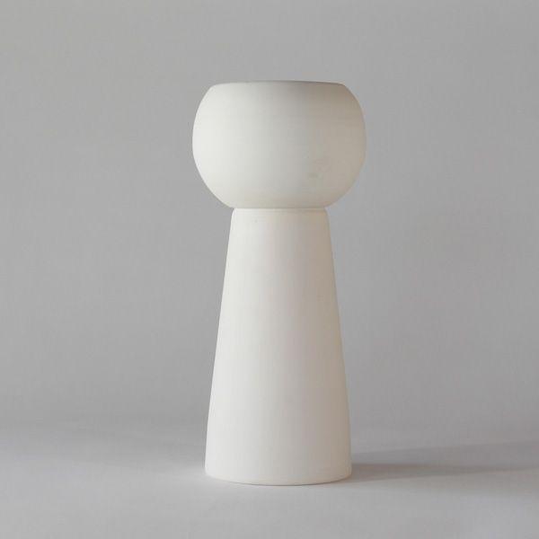 White matte ceramic double vase+pot. High quality handmade ceramics Designed+Made by Decovery | Essential Details.