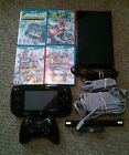NINTENDO Wii U 32GB BLACK CONSOLE WITH GAMEPAD 4 GAMES PLUS ACCESSORIES!