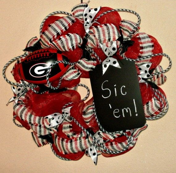 UGA Wreath Georgia Bulldog Wreath Extra Large Mesh by MeMaandCo, $65.00