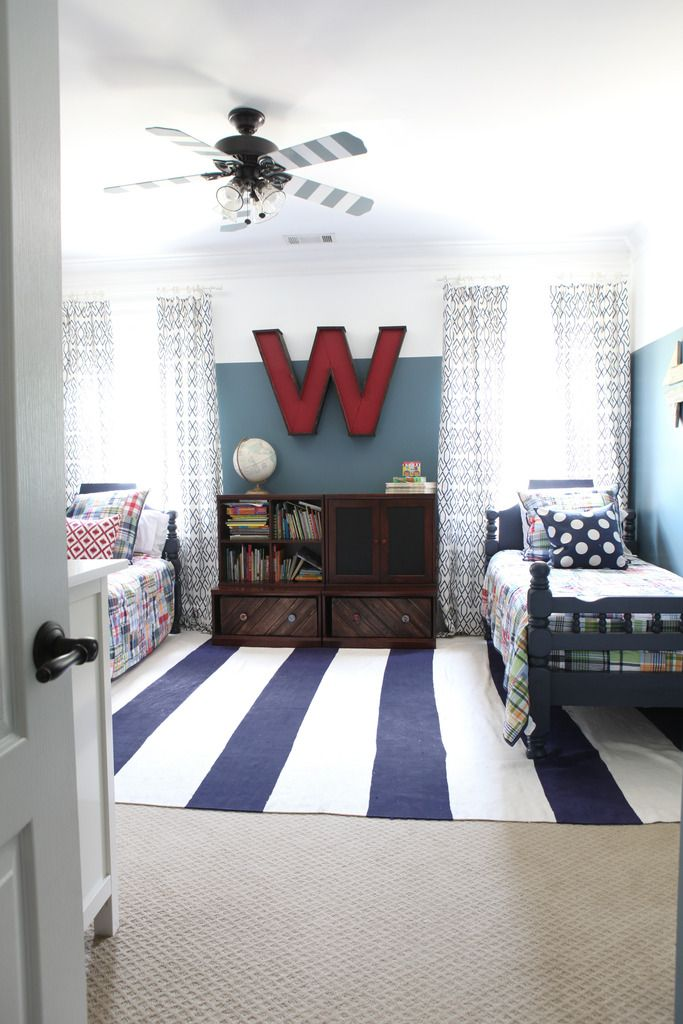 The big day is here and we are so excited to share the big boy's room reveal! As you may remember, we moved Weston in from his nursery and now he shares with his big brother Will. Granted, having a two year old and a five year old in one room can be a little challenge design wise (You want a...
