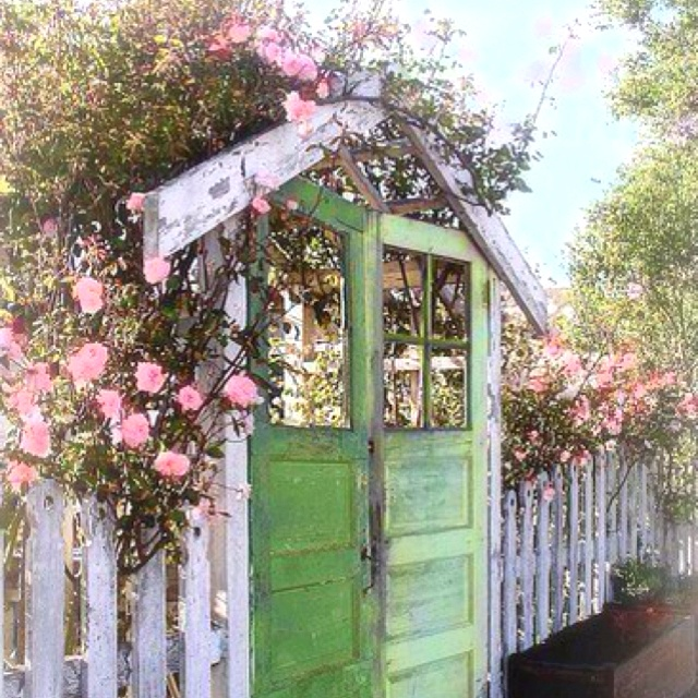 love the arbor Love the doors repurposed as a garden gate. An old door for a gate.love this idea! : arbor doors - pezcame.com