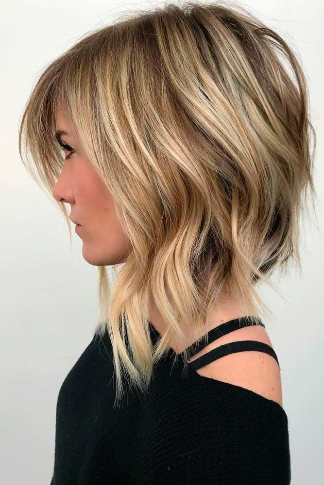 Choppy Wavy Lob For Fine Hair #finehair #layeredhair ★ Do you know how modern edgy bob haircuts ...