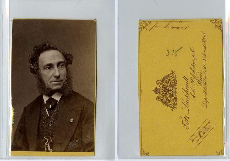 Le compositeur et violoniste italien Camillo Sivori     #CDV #portraits #Musiciens_Peintres_
