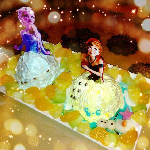 お母さんに誕生日で〜 - 27件のもぐもぐ - アナと雪の女王 ケーキ by ありさ