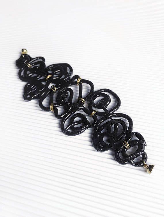 Black dressy bracelet black silicone jewelry bracelet with