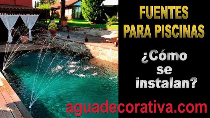 Cómo instalar una fuente en tu piscina fácilmente y en menos de un minuto.