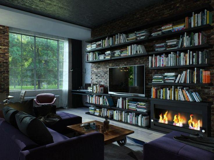 Futuristisches Interieur Loft Wohnung. die besten 25+ ...